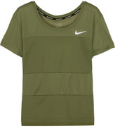 Nike Paneled Dri-fit Stretch-jersey T-shirt - Army green