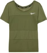 Nike Paneled Dri-fit Stretch-jersey T-shirt - Army green