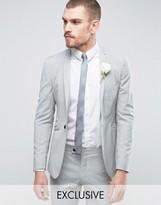 Hart Hollywood Super Skinny Wedding Suit Jacket With Notch