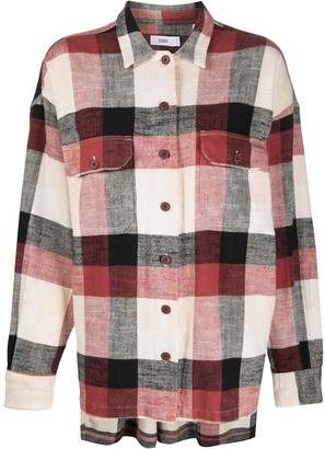 Closed Check Print Long-Sleeved Shirt