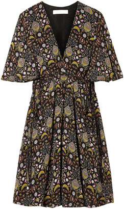 Chloé Floral-print Georgette Mini Dress