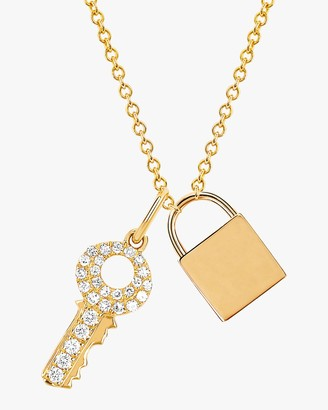 Ef Collection Lock Key Pendant Necklace