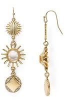 Aqua Busy Starburst Sparkle Drop Earrings