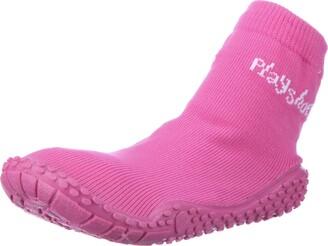 Playshoes Unisex-Child UV Protection Aqua Socks Bathing Beach Thong Sandals and Pool Shoes 174801 Pink 6 UK Child 22 EU Regular