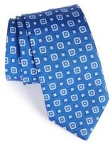 David Donahue Men's Medallion Silk Tie