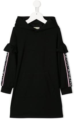 Kenzo Logo Stripe Hoodie Dress