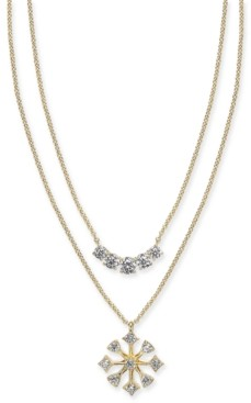 """Eliot Danori Crystal Convertible Necklace, 17"""" + 1"""" extender, Created for Macy's"""