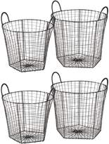 Amalfi by Rangoni Mira Wire Basket, Black (Set of 4)