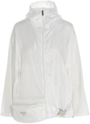 Prada Belt Bag Attached Hooded Jacket