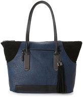 French Connection Phantom & Black Camden Tasseled Tote