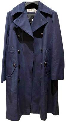 Christian Dior Blue Cotton Coat for Women