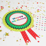 Postbox Party Customisable Happy Birthday Rosette