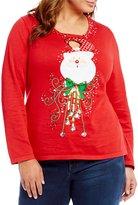 Berek Plus Keyhole Santa Sweater