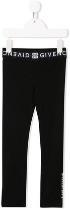Givenchy Kids logo waistband leggings