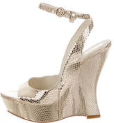 Alice + Olivia Metallic Wedge Sandals