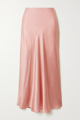 Le Kasha Silk-satin Midi Skirt