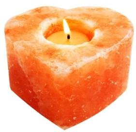 Evolution Salt Co. Heart Himalayan Salt Tealight Candle Holder
