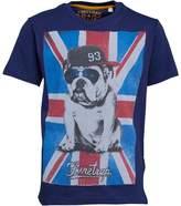 Firetrap Junior Boys Flag Bulldog T-Shirt Medieval Blue