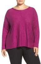 Eileen Fisher Plus Size Women's Organic Linen & Cotton Bateau Neck Sweater