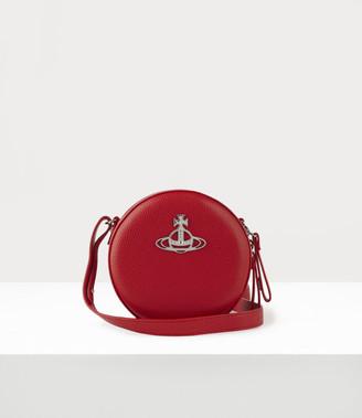 Vivienne Westwood Johanna Round Crossbody Bag Red