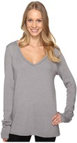 Hard Tail Slouchy V-Neck Pullover Women's Sweater