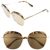 Sonix Women's Birdie 60Mm Oversize Sunglasses - Brown Tort/ Amber Mirror