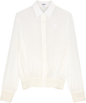 Loewe White gauze blouse