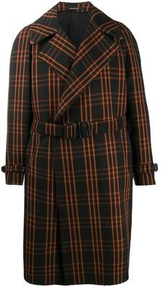 Tagliatore Baldwin check trench coat