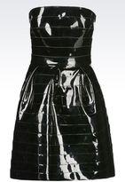 Emporio Armani Runway Dress In Vinyl