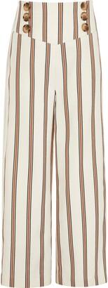 River Island Girls rust stripe wide leg trousers