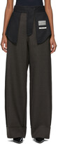 Thumbnail for your product : MM6 MAISON MARGIELA Brown Wide-Leg Inside-Out Trousers