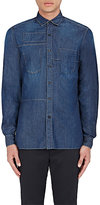 Lanvin Men's Patchwork Cotton Shirt-BLUE