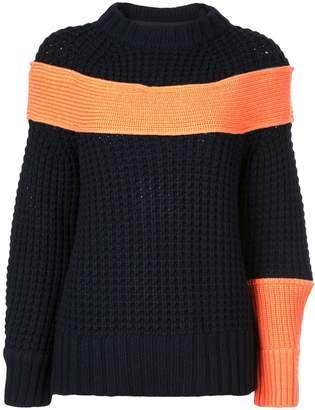 Sacai contrasting panel jumper