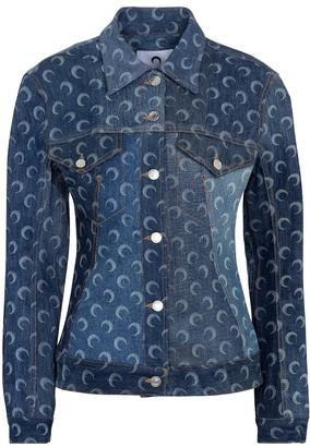 Marine Serre Printed denim jacket