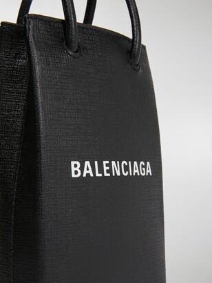 Balenciaga Shopping logo print tote bag