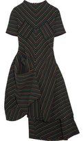 J.W.Anderson Draped Striped Cotton-Crepe Dress