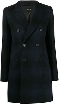 A.P.C. checked long line blazer