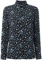 Saint Laurent star print shirt - women - Silk - 36