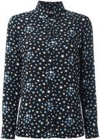 Saint Laurent star print shirt - women - Silk - 44
