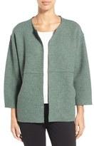 Eileen Fisher Petite Women's Round Neck Wool Jacket