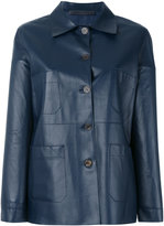 Simonetta Ravizza button front leather jacket