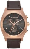 Nixon Time Teller Chrono Leather Watch, 39mm