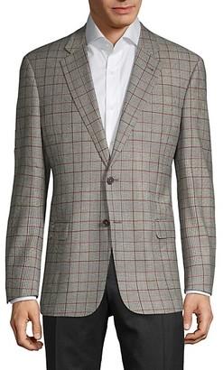 Armani Collezioni Standard-Fit Glen Plaid Wool-Blend Sportcoat