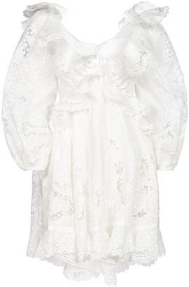 Zimmermann Lace Ruffle Mini Dress