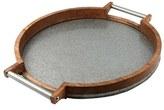 Thirstystone Mango Wood & Galvanized Iron Round Serving Tray