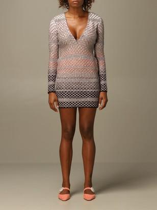 Missoni Dress In Mesh Lurex Wool Knit