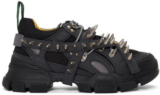 Gucci Black Removable Studs Flashtrek Sneakers