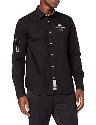 La Martina Men's Man L/s Oxford Cotton Shirt Casual (Black 09999)