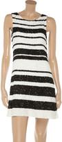 Alice + Olivia Kimmy striped sequined silk dress