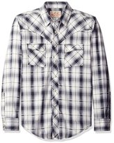 Wrangler Men's Western Two Pocket Snap Front Long Sleeve Woven Shirt